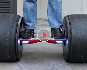 Formula Tires Attached Hoverboard