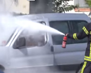 Man Puts Out Smokers' Cigarettes With A Fire Extinguisher